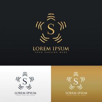 Stile di disegno del monogramma logo astratto per la lettera s