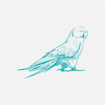 Stile di disegno dell'illustrazione del gufo