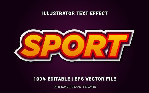 Stile di effetti di testo sportivo