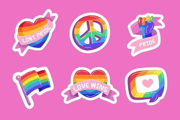 Stile di etichette giorno dell'orgoglio