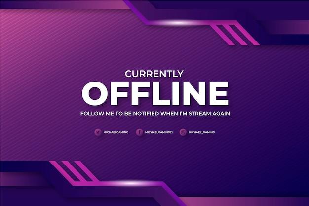 Stile di gammer banner twitch offline