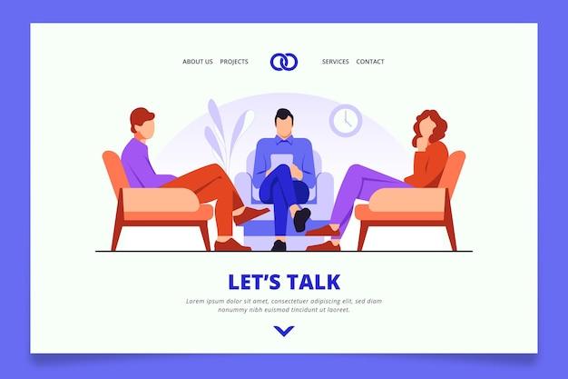 Stile di homepage di consulenza matrimoniale