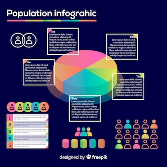 Stile di infografica modello infografica piatta