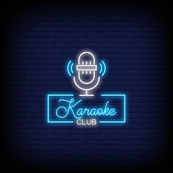 Stile di insegne al neon karaoke