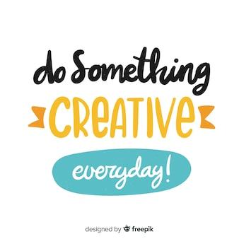 Stile di lettering sfondo citazione motivazionale