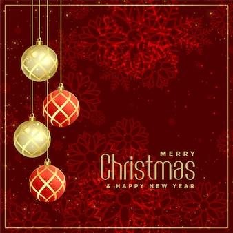 Stile di lusso merry christmas design di auguri