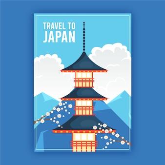 Stile di poster di viaggio illustrato