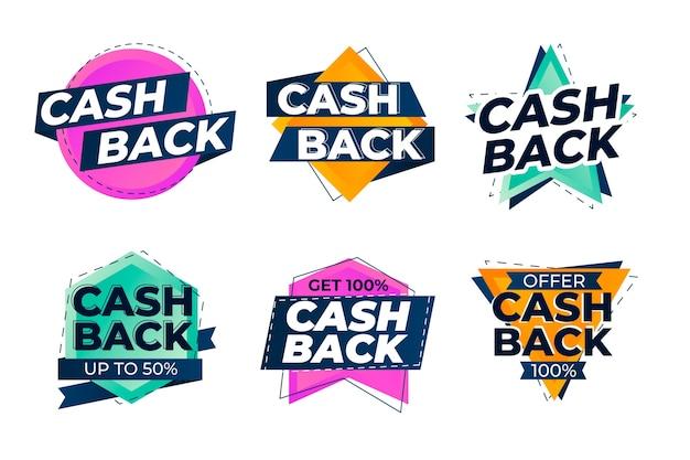 Stile di raccolta etichette cashback