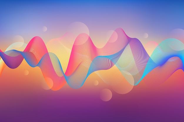 Stile di sfondo colorato ondulato