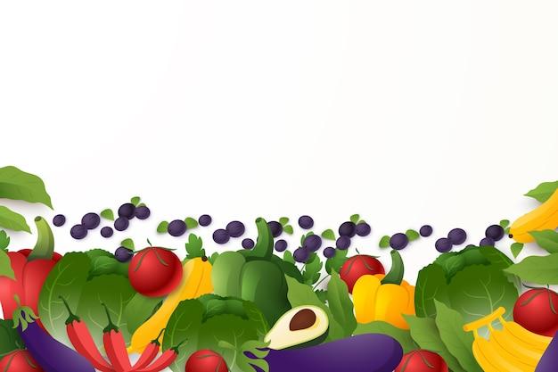 Stile di sfondo di frutta e verdura