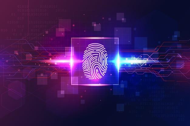 Stile di sfondo di impronte digitali al neon