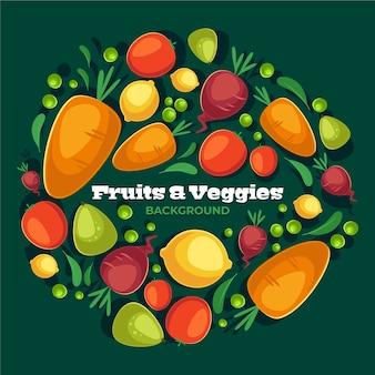 Stile di sfondo di prodotti alimentari sani
