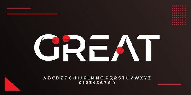 Stile di testo bianco moderno con modelli di disegno astratto cerchio rosso