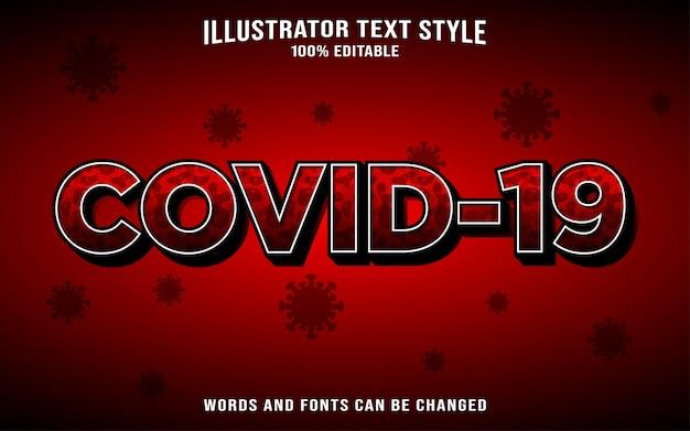 Stile di testo coronavirus