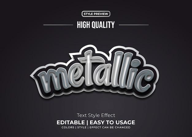 Stile di testo metallico 3d con effetto in rilievo