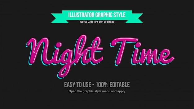 Stile di testo modificabile corsivo 3d rosa e blu neon
