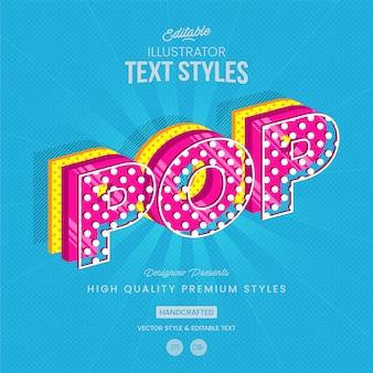 Stile di testo pop art