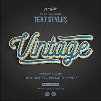 Stile di testo vintage