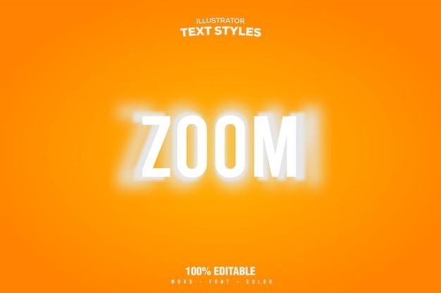 Stile di transizione zoom effetto testo
