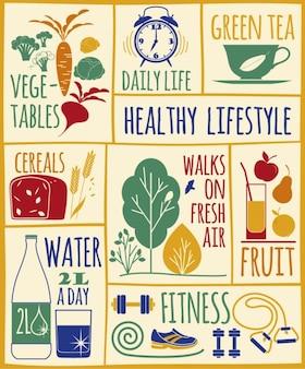 Stile di vita sano illustrazione