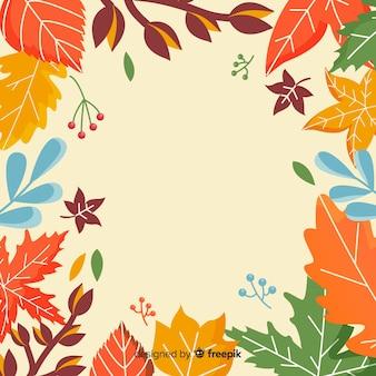 Stile disegnato a mano del fondo di autunno