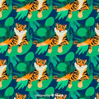 Stile disegnato a mano modello tigre