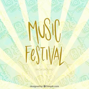 Stile disegnato del fondo di festival di musica a disposizione