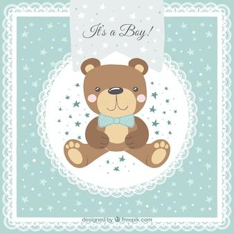 Stile disegnato del fondo sveglio del neonato a disposizione