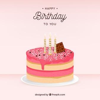 Glassa foto e vettori gratis - Colorazione pagina della torta di compleanno ...