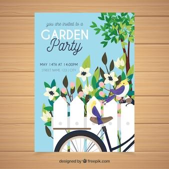 Stile disegnato della festa del giardino della primavera stile disegnato a disposizione