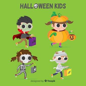 Stile disegnato della raccolta di generi di halloween a disposizione