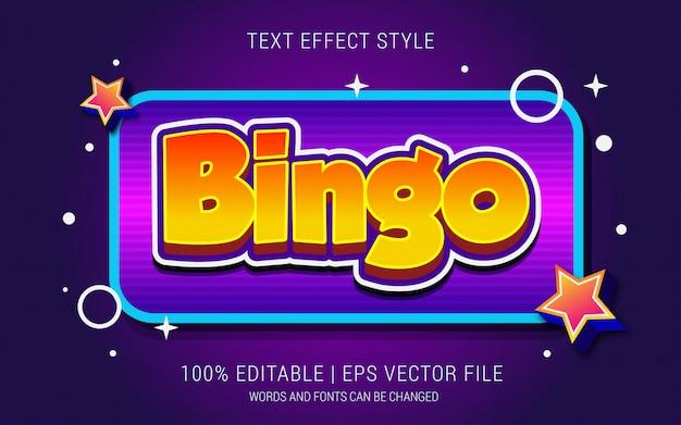 Stile effetti testo bingo