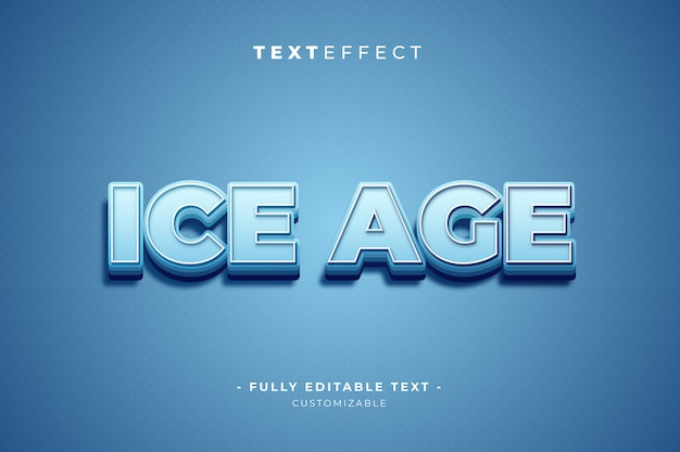 Stile effetto testo modificabile di illustrator