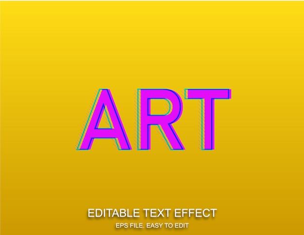 Stile effetto testo pop art retrò