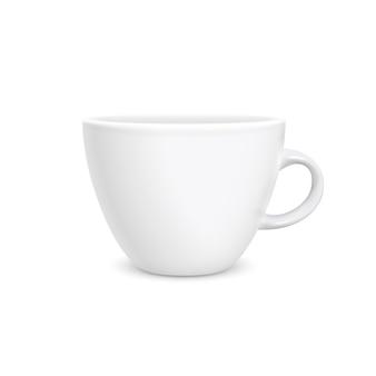 Stile fotorealistico della tazza bianca del caffè isolato