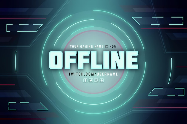 Stile gamer banner twitch offline