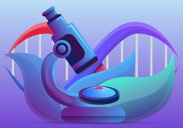 Stile genetico del fumetto dell'illustrazione di concetto di ingegneria
