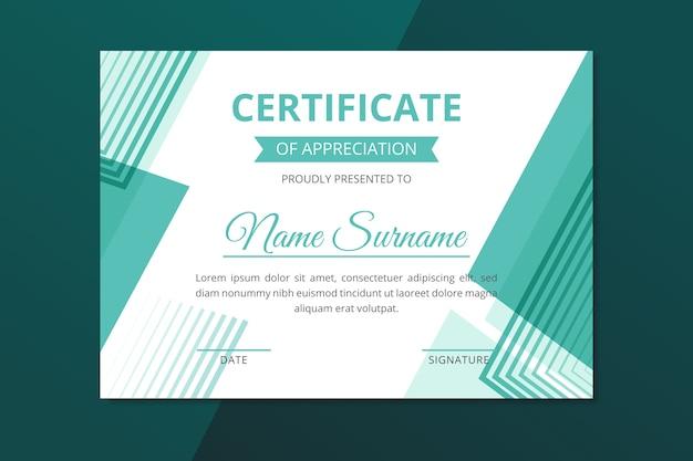 Stile geometrico modello astratto certificato