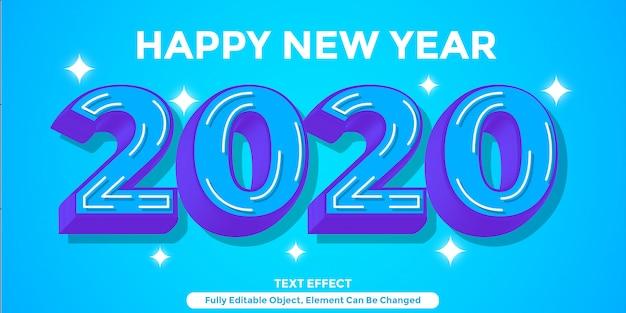 Stile grafico blu scuro di effetto del testo 3d
