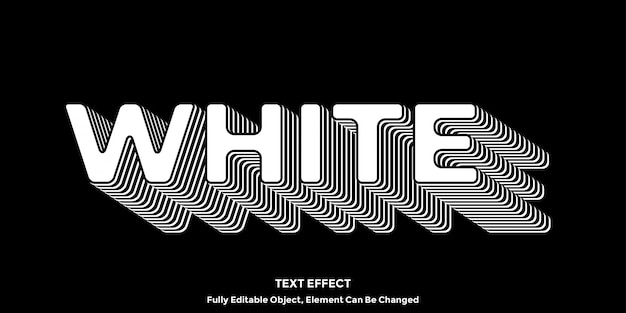 Stile grafico effetto testo bianco 3d