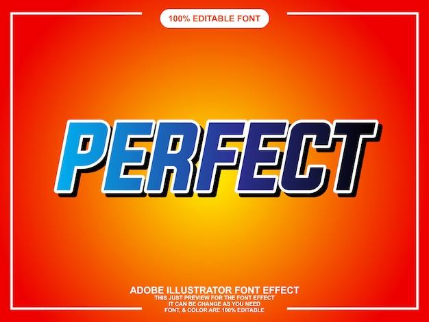 Stile grafico moderno di tipografia editabile audace