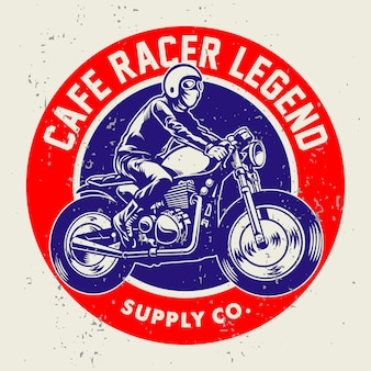 Stile grunge del badge cafe racer