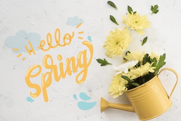 Stile lettering primavera con foto