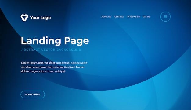 Stile moderno del modello astratto della pagina di atterraggio del sito web