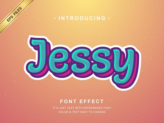 Stile moderno di carattere e carattere per adesivo e t-shirt, simpatico alfabeto a strati con stile retrò