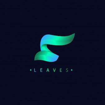 Stile moderno di gradienti di logo della lettera s 3d