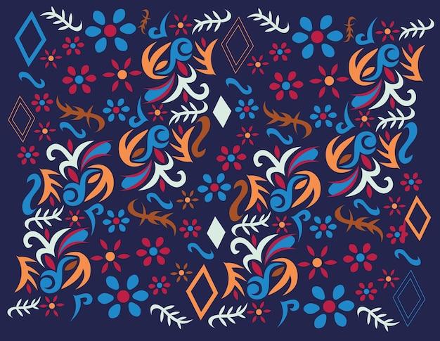 Stile motivo messicano colorato