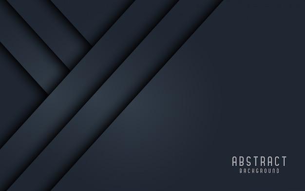 Stile nero e grigio 3d del fondo astratto.