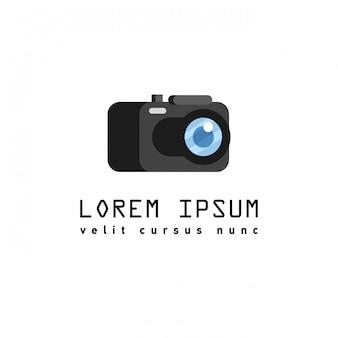 Stile piano con lunghe ombre, illustrazione dell'icona della macchina fotografica.
