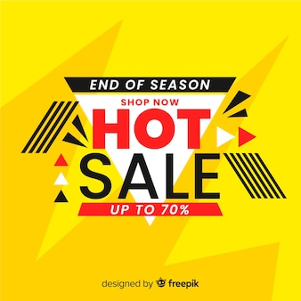 Stile piano del fondo astratto di promozione di vendite